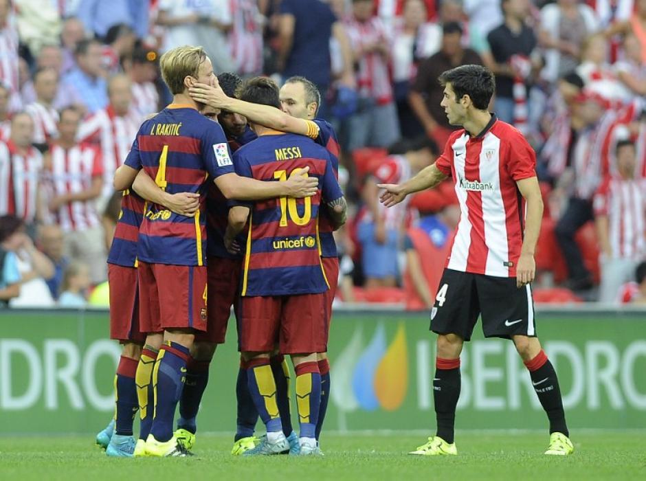 Un gol de Luis Suárez le dio el triunfo al Barcelona sobre el Athletic en el San Mamés. (Foto: AFP)