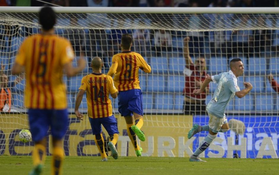 Aspas celebra uno de los goles del Celta de Vigo. (Foto: AFP)