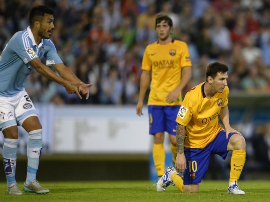 El Barcelona cayó 4-1 en su visita a Balaídos frente al Celta de Vigo por la Liga BBVA. (Foto: AFP)