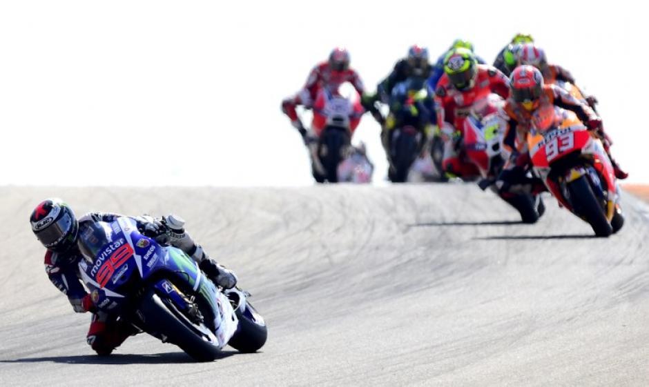 Lorenzo tomó la delantera desde el primer momento. (Foto: AFP)