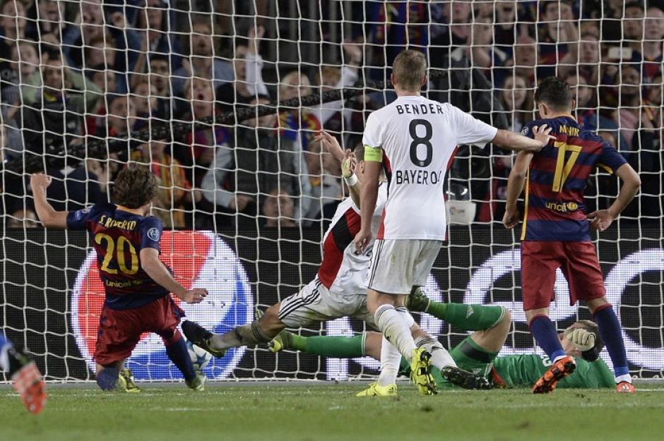 El Leverkusen aguantó estar arriba del Barcelona en el marcador por 58 minutos, pero luego llegó el marcador de Sergi Roberto. (Foto: AFP)