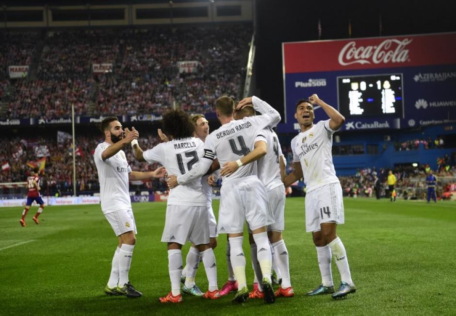 El Madrid estuvo a punto de llevarse los tres puntos del estadio Vicente Calderón. (Foto: AFP)