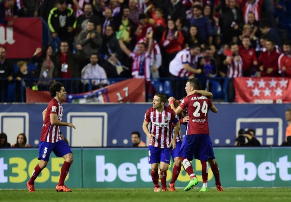 El Atlético rescató un empate luego de ir abajo en el marcador desde el primer tiempo y de desperdiciar un penal. (Foto: AFP)