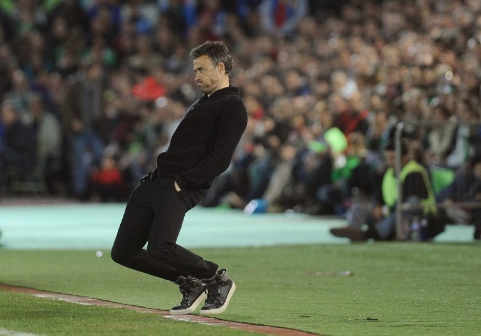 Luis Enrique sufrió un revés al no poder ganar ante el humilde Villanovense de la Segunda División B de España por la Copa del Rey. (Foto: AFP)