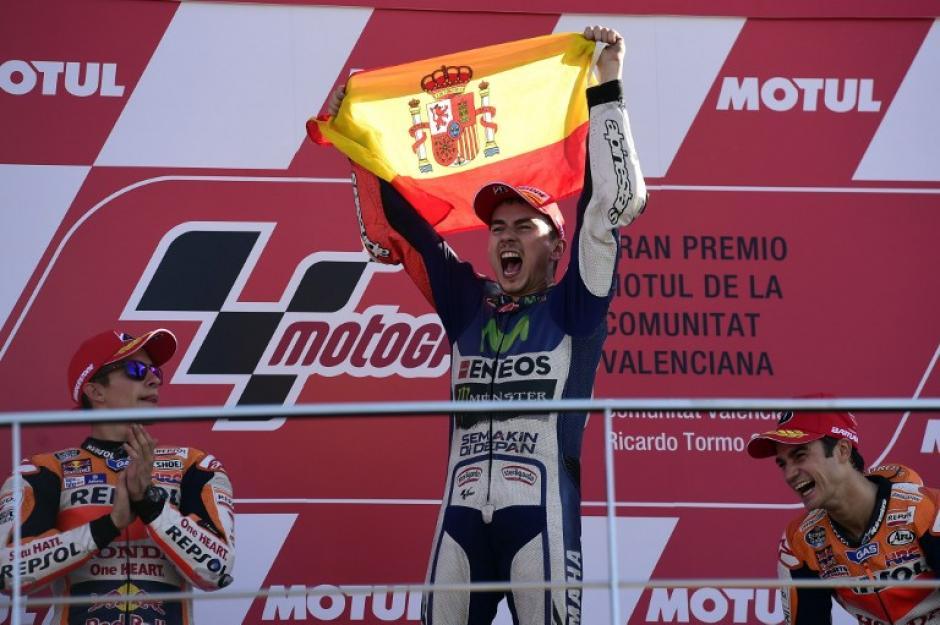 Jorge Lorenzo es un piloto que ya suma tres campeonatos mundiales de Moto GP. (Foto: AFP)