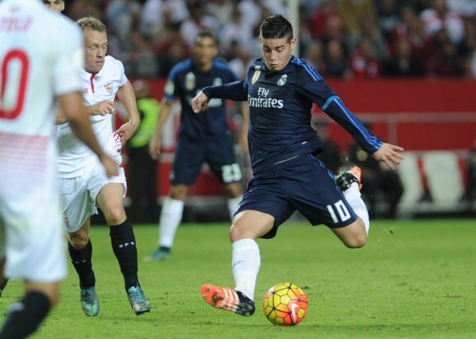 James Rodríguez por fin pudo volver a jugar luego de una lesión. (Foto: AFP)