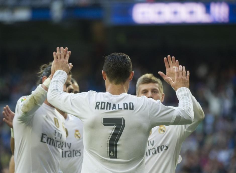 El Madrid celebró una goleada en medio de un ambiente hostil por su eliminación temprana en la Copa del Rey. (Foto: AFP)