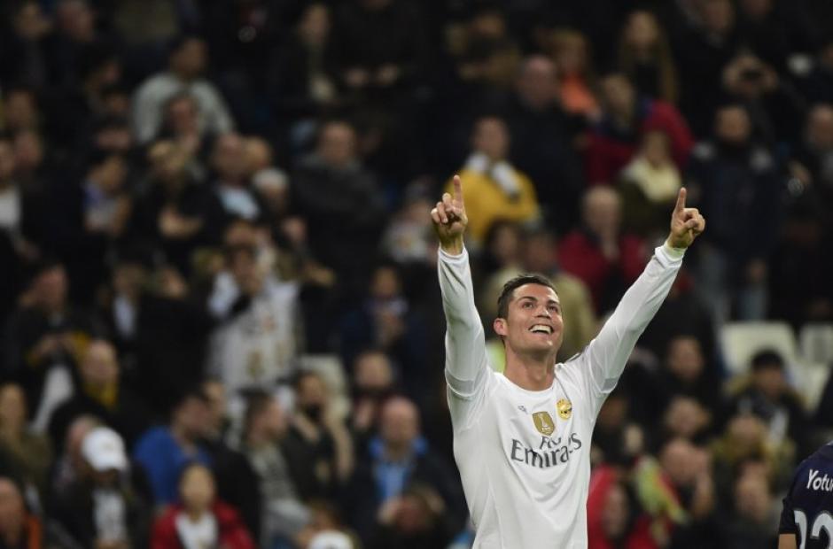 Cristiano Ronaldo anotó cuatro goles en el Bernabéu. (Foto: AFP)