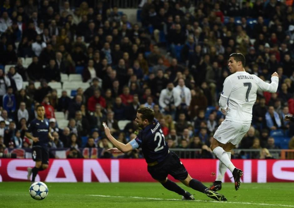 Cristiano se lució ante el Malmö en el Bernabéu. (Foto: AFP)