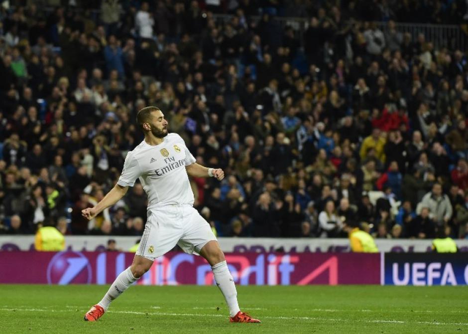Benzema abrió el marcador y anotó tres en su cuenta personal