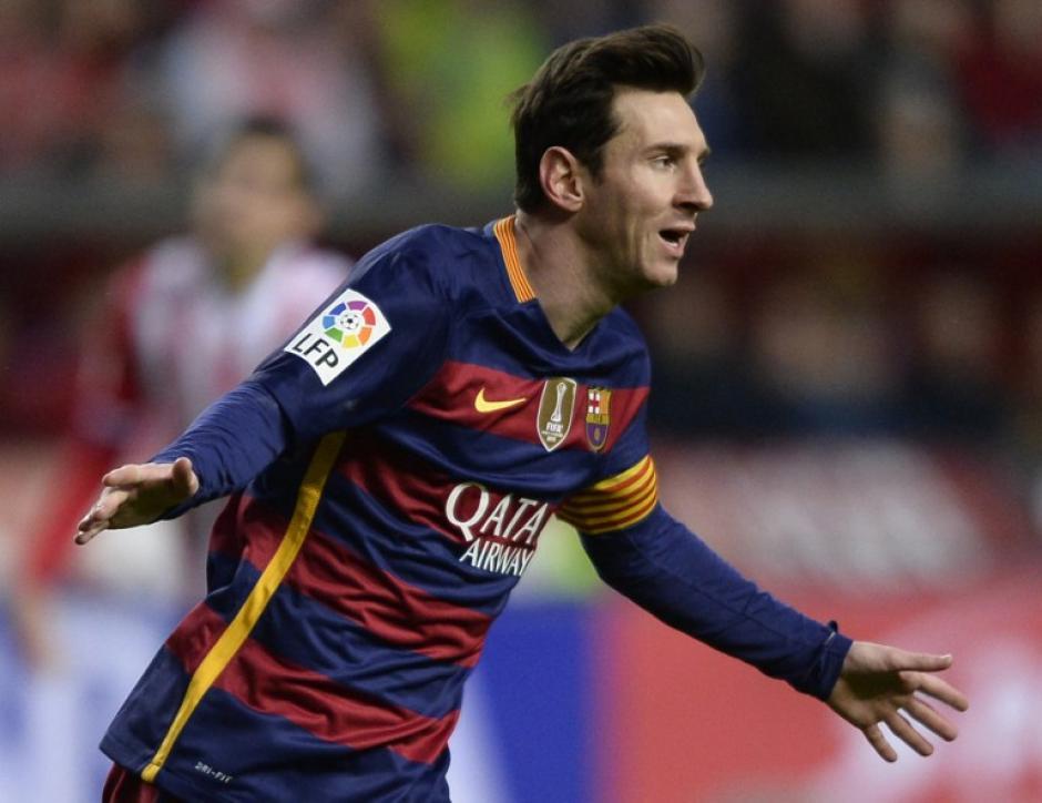 Messi anotó su gol 300 en la liga y llega a una nueva marca en el Barcelona. (Foto: AFP)