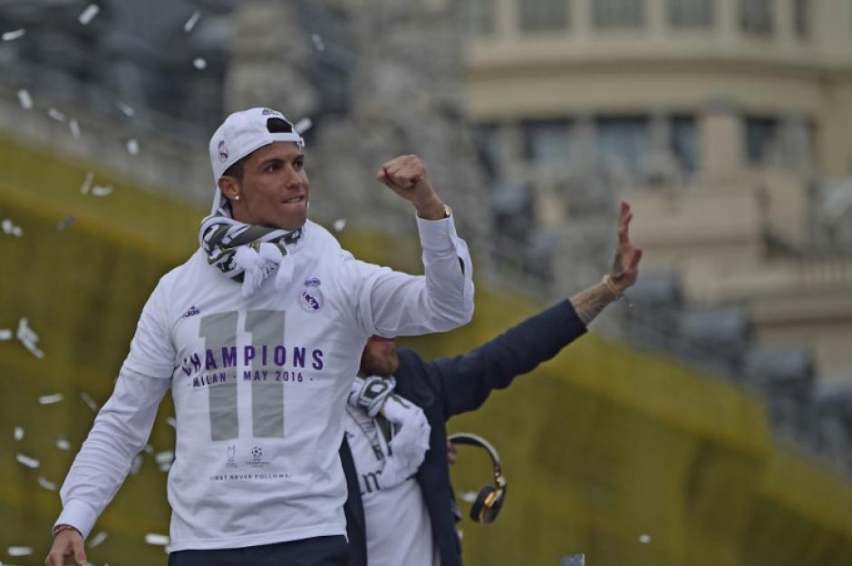 Ronaldo no podía faltar en la celebración. (Foto: AFP)