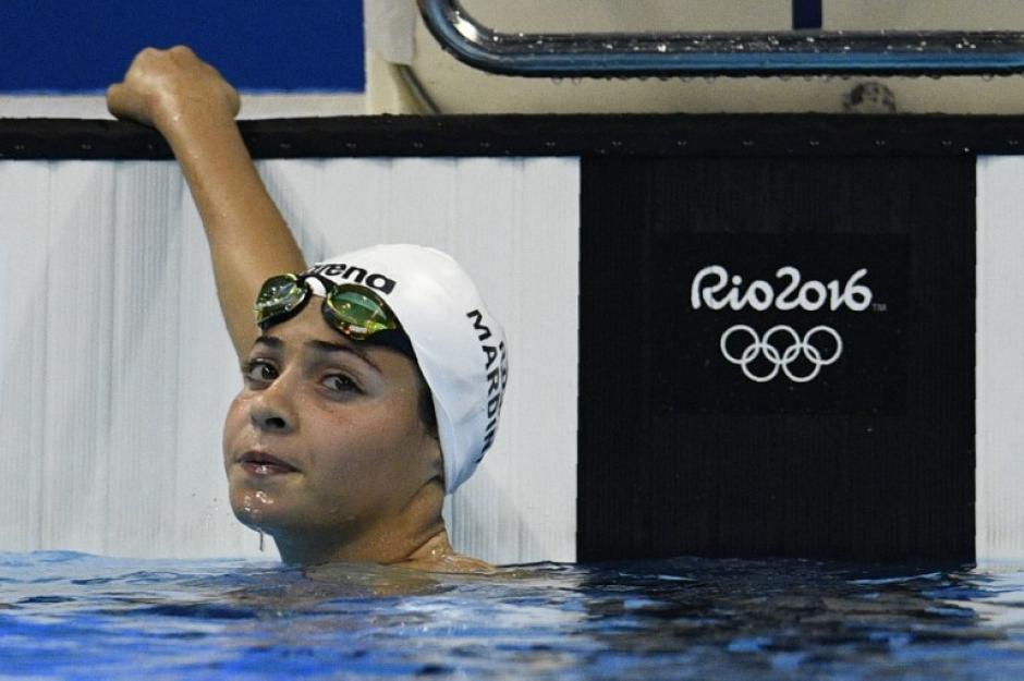 La chica de 19 años ganó la primera serie (Foto: AFP)