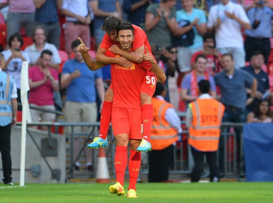 Los reds terminaron goleando 4-0 (Foto: AFP)