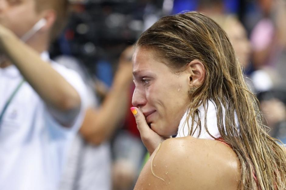 El rechazo de la gente finalmente tocó su corazón y lloró en su última competición. (Foto: AFP)