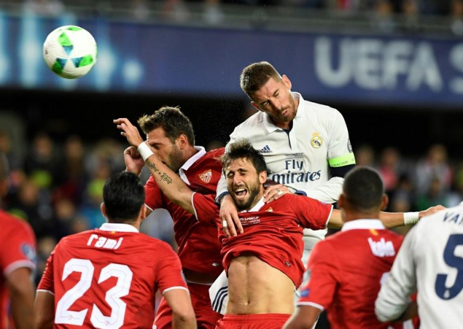 Sergio Ramos apareció, como siempre. (AFP)