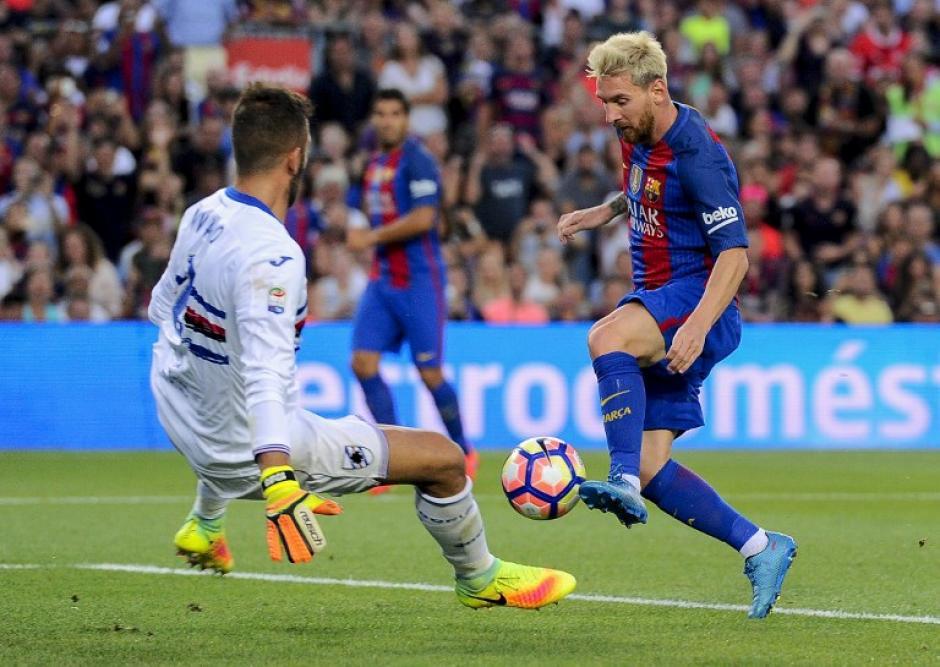 El segundo fue de Messi, tras un gran recorte contra el arquero. (Foto: AFP)