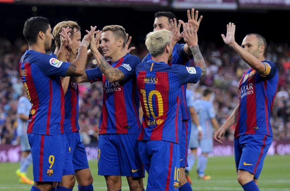 El Barça se llevó el último amistoso de pretemporada. (Foto: AFP)