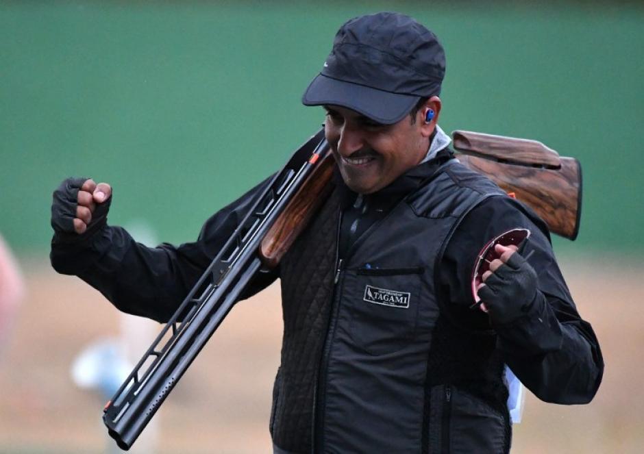 Fehaid Aldeehani ganó el oro en la prueba doble foso de tiro. (AFP)