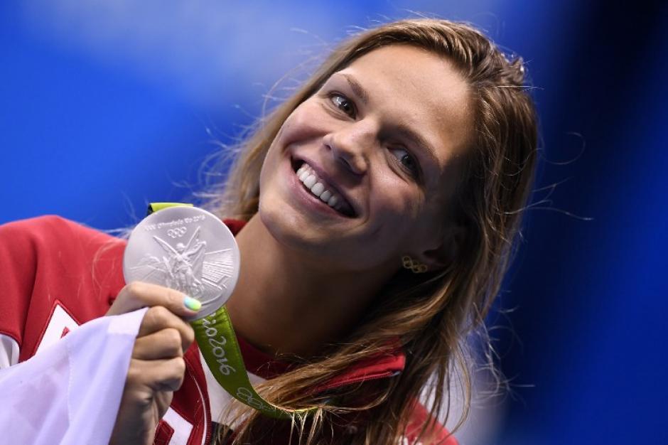 Yuliya Efinova obtuvo dos platas en las competencias de natación. (Foto: AFP)