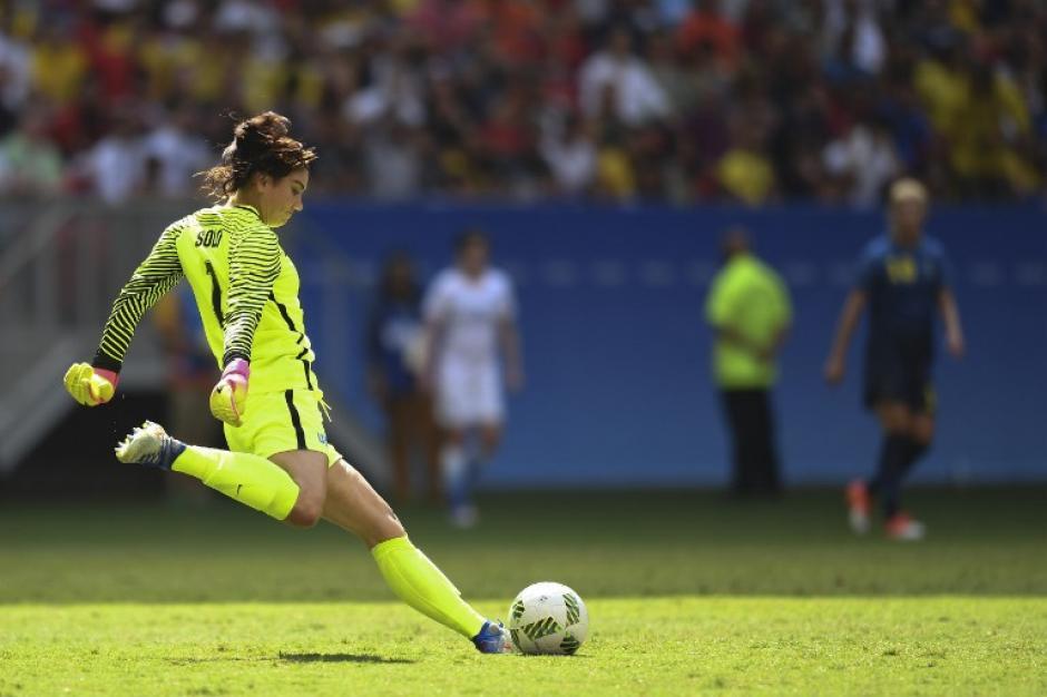 Hope Solo no encajó bien la derrota. (Foto: AFP)