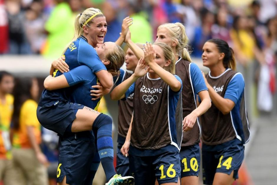 Suecia eliminó a la gran favorita, Estados Unidos. (Foto: AFP)