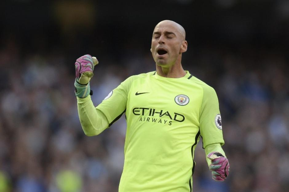 Guardiola sorprendió al poner a Willy Caballero y no a Joe Hart. (Foto: AFP)