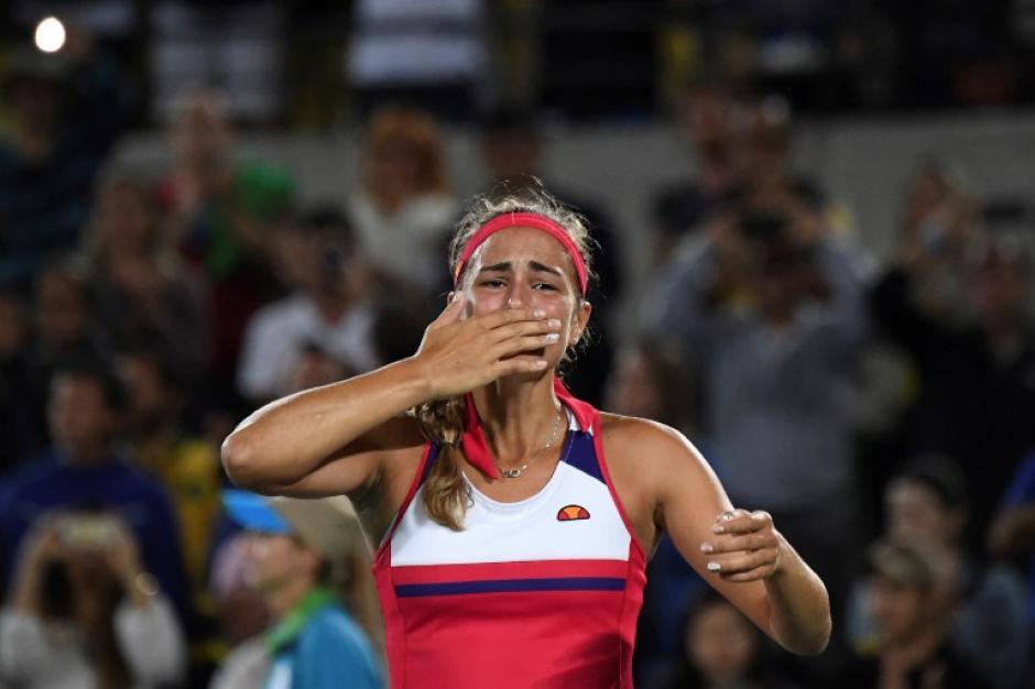 Venció a Kerber 2 sets a .1 (Foto: AFP)