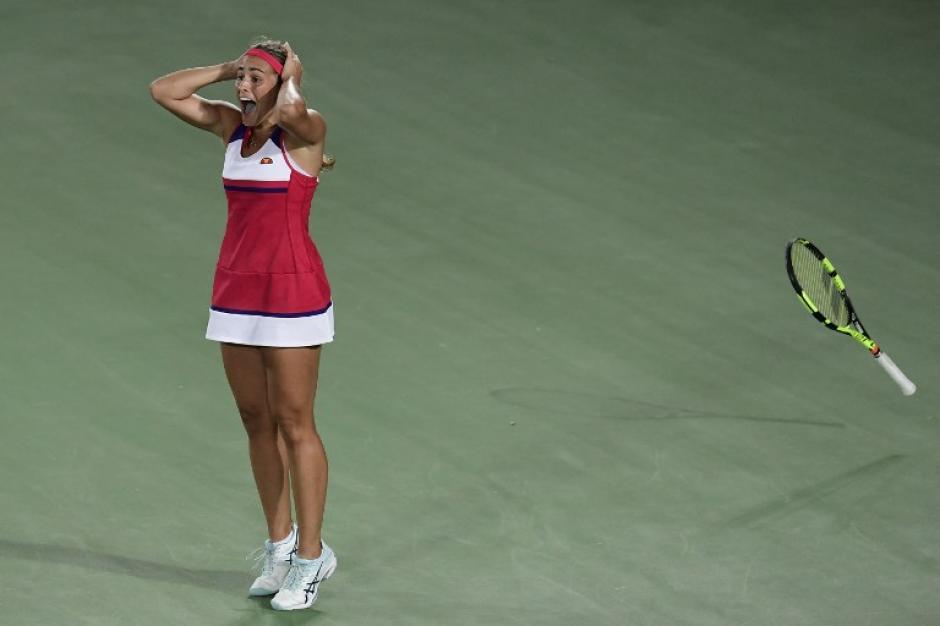 Puig, justo después del punto final. (Foto: AFP)