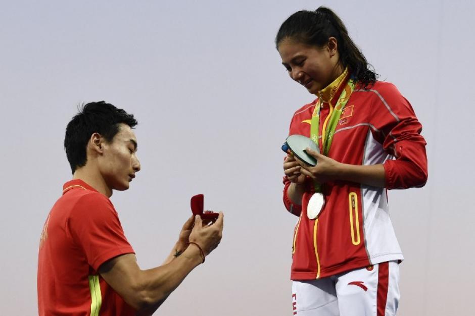 Kin Qai ganó también una medalla en Río, bronce en clavados sincronizados. (Foto: AFP)