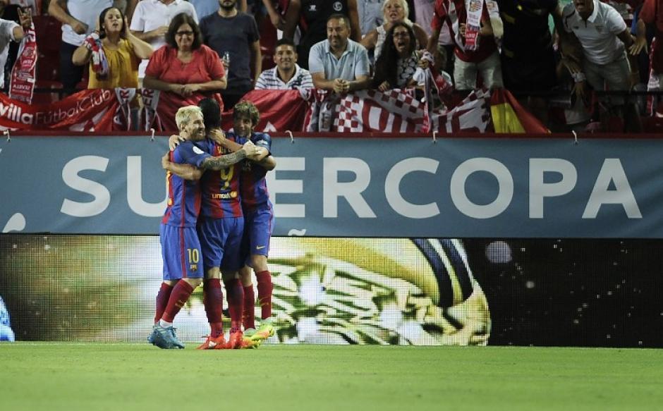 El Barça recuperó su fútbol para la segunda parte. (Foto: AFP)