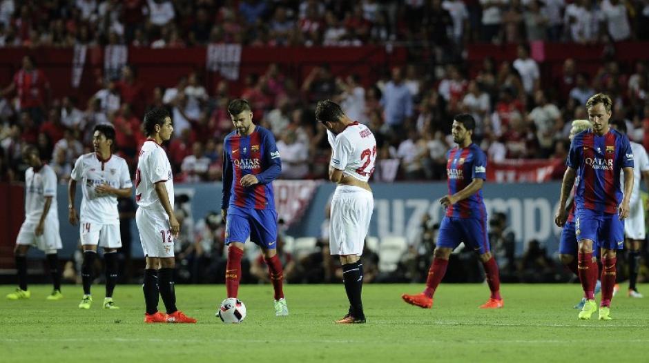 El Sevilla fue mejor en el primer tiempo, pero no anotó. (Foto: AFP)