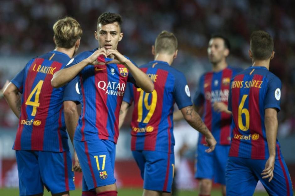 Munir puso el segundo con asistencia de Leo Messi. (Foto: AFP)