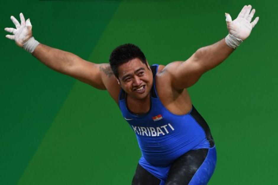 El atleta se puso a bailar aprovechando sus cinco minutos de fama. (Foto: AFP)