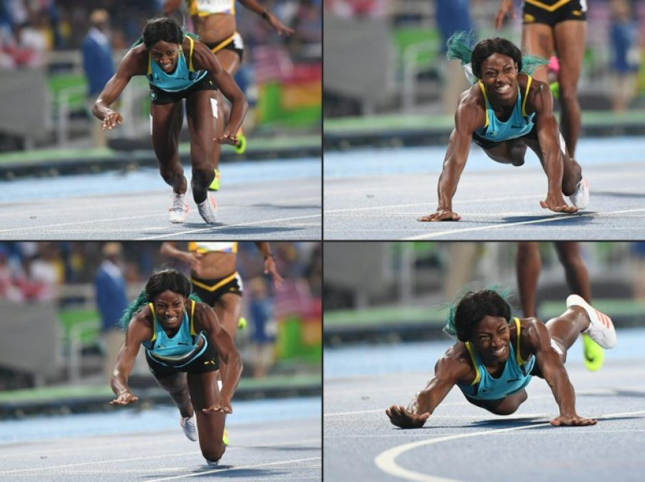 Así entró Shaunae Miller para ganar el oro en los 400m (Foto: AFP)