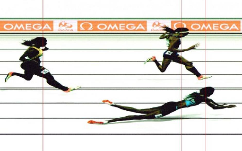 """La """"foto finish"""" fue la que sirvió para darle la medalla de oro. (Foto: AFP)"""