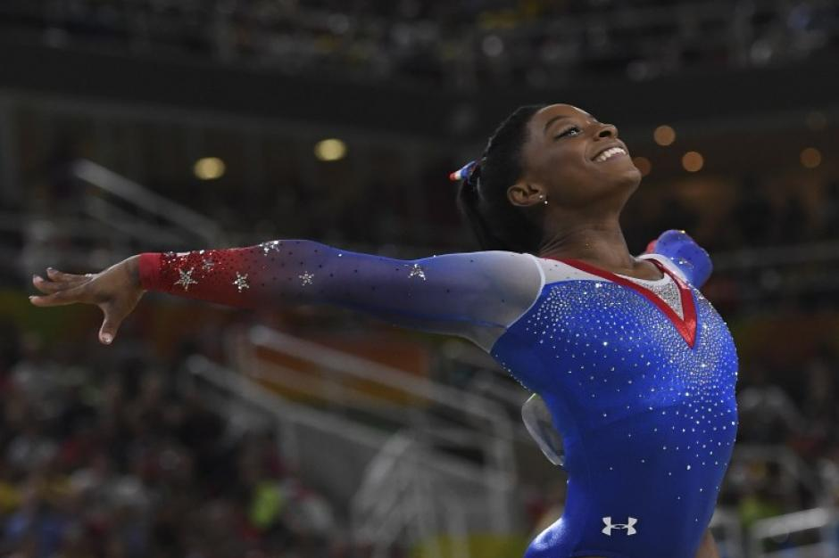 Simone Biles se despidió de Río con otro oro. (Foto: AFP)