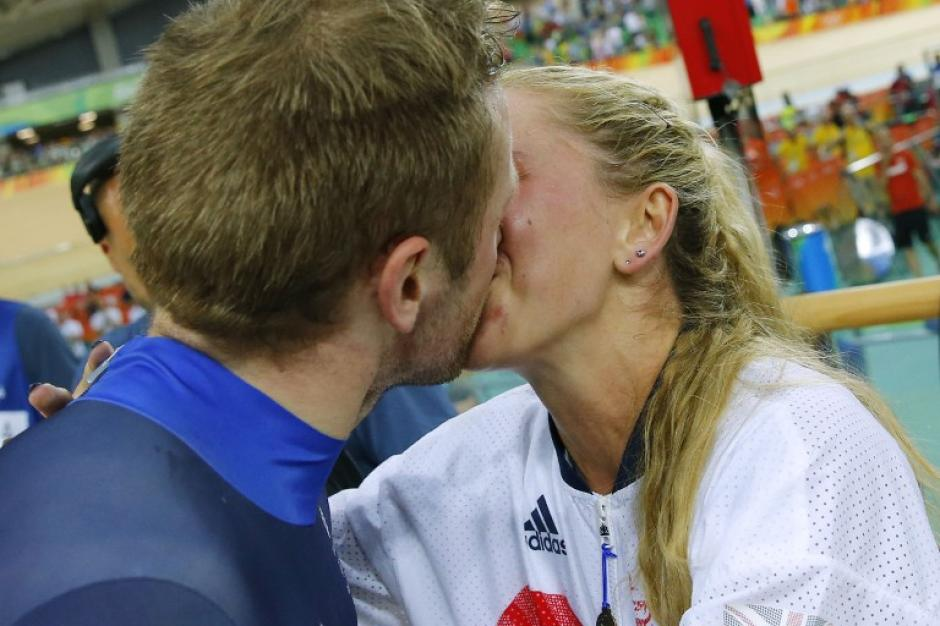 Jason Kenny y Laura Trott acumulan 10 oros olímpicos entre ambos. (Foto: AFP)