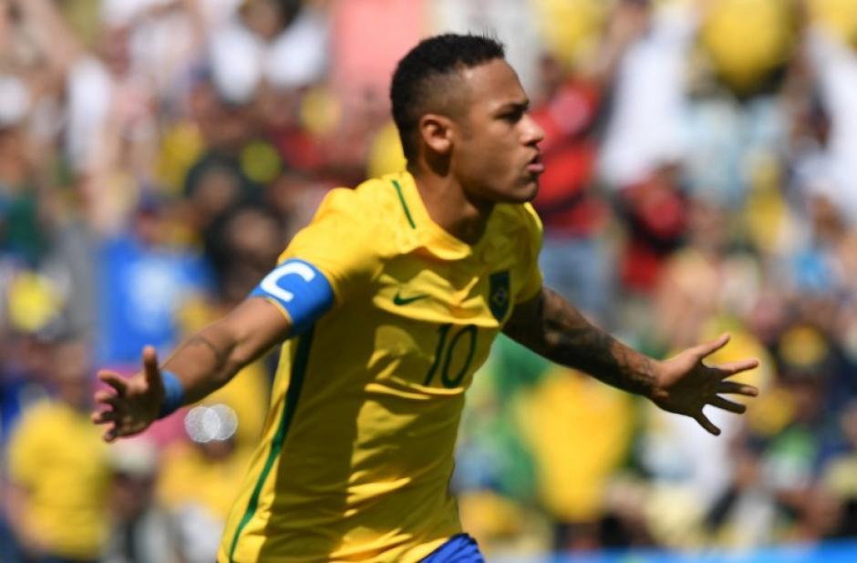 Neymar marcó a los 15 segundos el gol más rápido de los JJOO. (Foto: AFP)