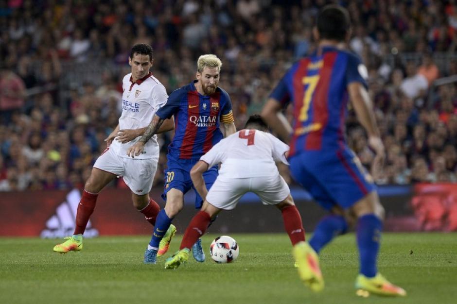 El Sevilla puso poca resistencia en el Camp Nou. (Foto: AFP)