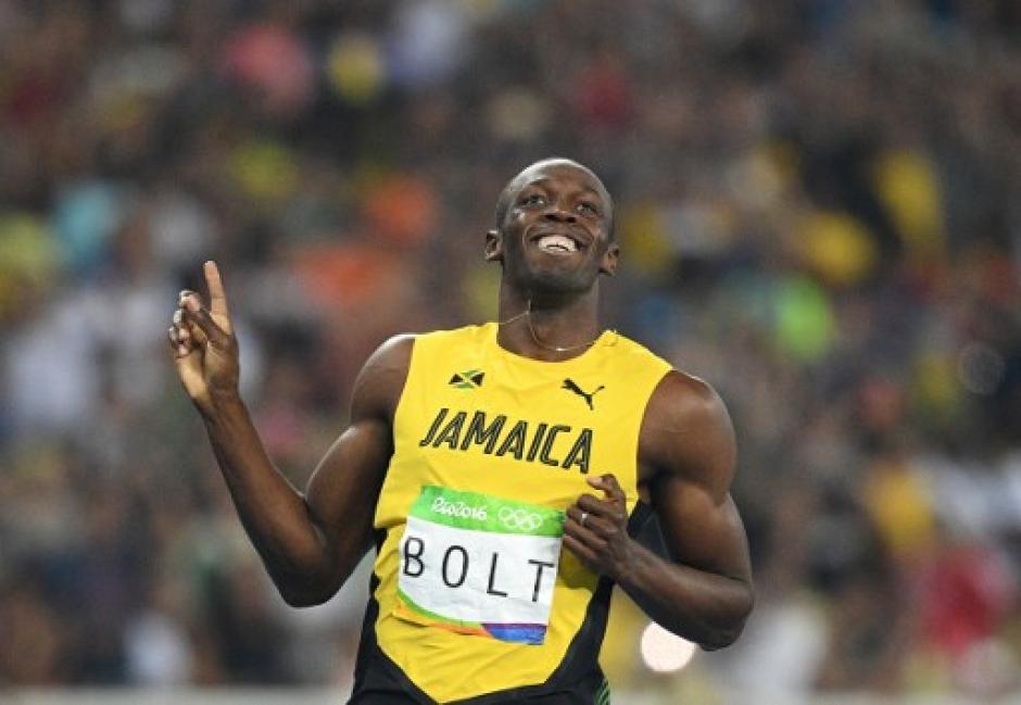 Así celebró el atleta su clasificación. (Foto: AFP)