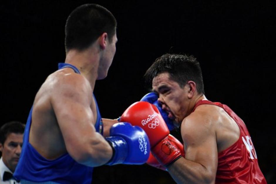 Misael Uziel Rodríguez cayó en la semifinal de 75 kilogramos ante Bektemir Melikuziev. (Foto: AFP)