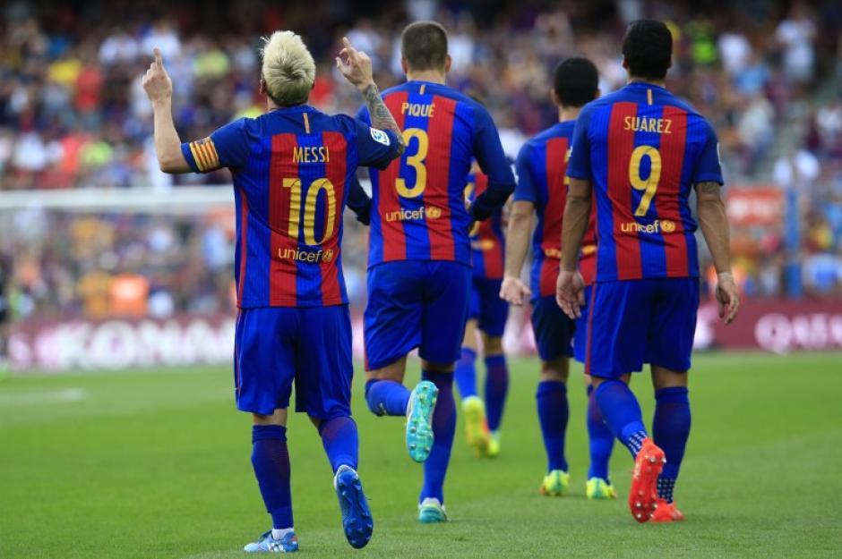 El Barcelona se estrenó a lo grande en su estadio. (Foto: AFP)