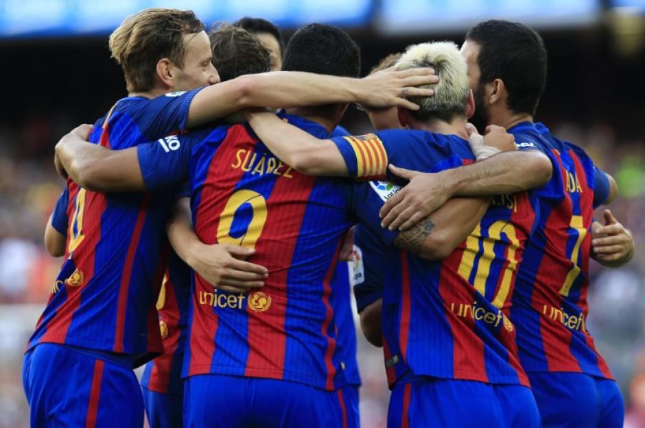 El Barça dio una gran imagen en su primer partido. (Foto: AFP)