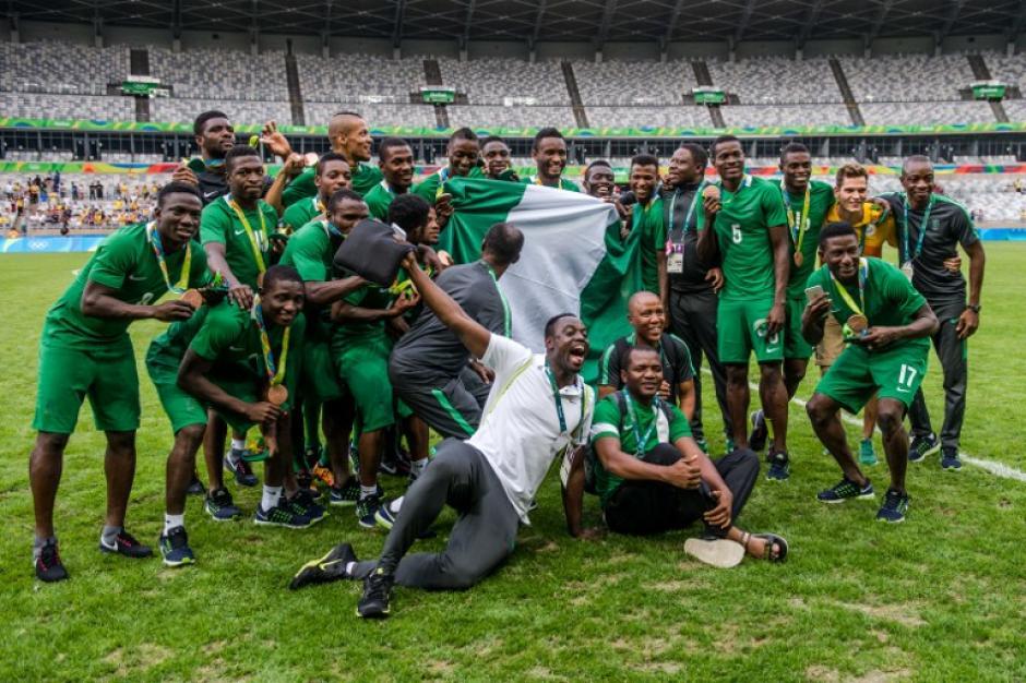 Nigeria celebra su tercer puesto en Río 2016. (Foto: AFP)