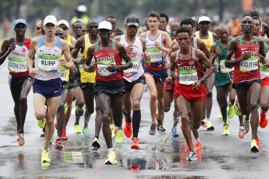 La maratón fue una de las pruebas más esperadas de los Juegos Olímpicos. (Foto: AFP)