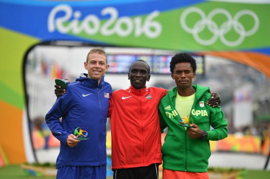Lilesa quedó segundo en el maratón masculino (Foto: AFP)