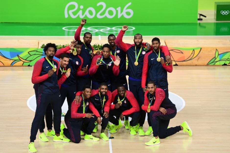 Estados Unidos venció a Serbia y se llevó el oro en baloncesto. (Foto: AFP)