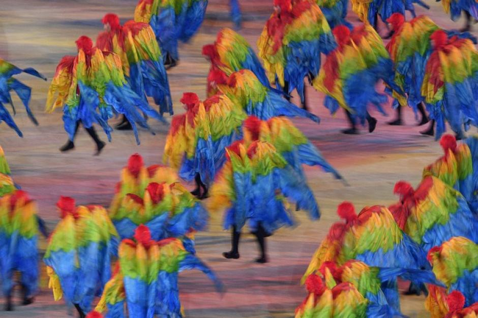 Los colores tan típicos de la cultura brasileña estaban presentes. (Foto: AFP)