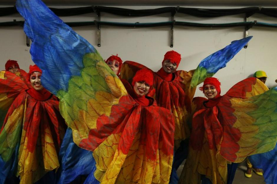 El carnaval de Río fue la inspiración de la ceremonia. (Foto: AFP)